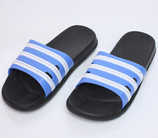 Mens Sports Gym Sandal Slipper Summer Beach Stripe Flip Flops Shoes Blue