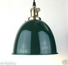 Industrial Green Metal Dome Shade Chandelier Vintage Retro Ceiling Pendant Light