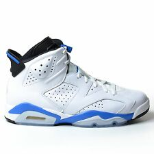 AIR JORDAN 6 RETRO SPORT BLUE 2014 WHITE BLACK VI MENS NIKE OG DS 384664-107