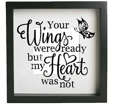 YOUR WINGS WERE READY BUTTERFLY Vinyl Decal Sticker fits Ikea Ribba Frame  DIY