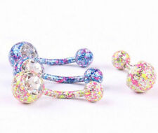Body Piercing Jewelry Hot Navel Ring Dangle Belly Crystal Rhinestone Button