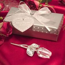 Set of 6 Choice Crystal Long Stem Rose Wedding Favours Special Occasions