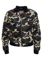 Women's Kylie Camouflage Bomber Ladies Jacket Air Force MA1 Varsity College Mili