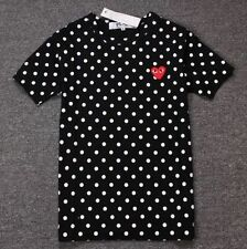 4-Sizes-BLACK-2016-COMME-DES-GARCONS-CDG-PLAY-DOT-SHORT-SLEEVE-T-SHIRT