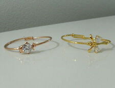 Gold Plated Bracelet Rose/Yellow Child's Baby Bangle Gemstones