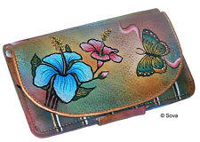 Sova Hand Painted Deluxe Genuine Leather French Wallet