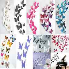New 3D DIY Butterfly Sticker Art Wall Stickers Decals Room Decoration Home Decor