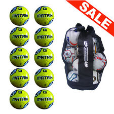 NEW iPro Soft Touch Matrix Football Sack of 10 Deal Offer - Cheap Training Balls