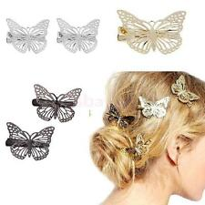 Wedding Bridal Silver/Gold Butterfly Hair Clips Hairpin Hair Accessories