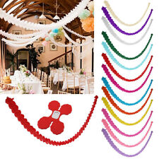 3m Paper Garland Bunting Banner Birthday Wedding Party for Hanging Decoration
