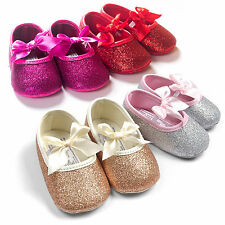 Kids Baby Girls Shoes Anti-slip Bowknot Bow Toddler Infant Crib Boots Prewalkers