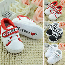 Kids Printed Velcro Shoes Baby Infant Boy Girl Sole Trainers Sneaker 0-18 Months