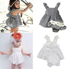 Summer Cotton Cute Strappy Toddler Girl Dress Kids Party Princess Pageant Dress