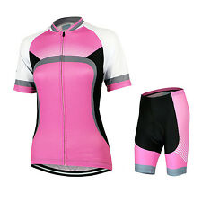Women Cycling Ride Short Sleeves Quick Dry Jersey MTB Bike Bicycle Riding Sets