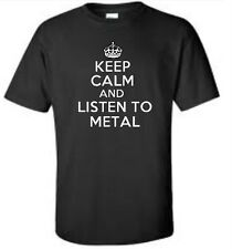 Keep Calm And Listen To Metal T-Shirt Music Band Heavy Metal Tee More Colors