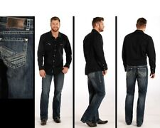 Rock N Roll Cowboy Double Barrel Relaxed Straight Leg Jeans M0S4927