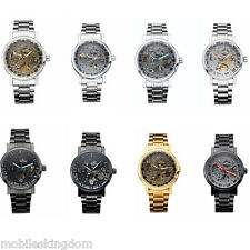 8 Colors Men Watch Automatic Mechanical Skeleton Business Waterproof Analog Gift
