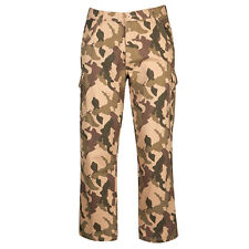 Mens Cargo Bay Desert Storm Camo Camouflage Cargo Trousers Casual Trousers