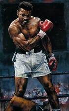 Modern Abstract Oil Painting on Canvas Wall Art Decor Muhammad Ali 24x36inch