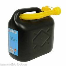 10L LITRE JERRY CAN PETROL DIESEL FUEL WATER STORAGE CONTAINER CAN & SPOUT BLACK