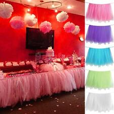Tulle TUTU Table Skirt Tablecover Wedding Party Baby Shower bday Table Decor New