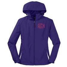 Monogrammed Ladies Hooded Rain Jacket. Monogram Hooded Windbreaker Jacket. LST76
