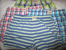 NWT Hollister by Abercrombie Mens Boxer Underwear Chambray & Green Stripe M