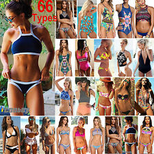 66 Types Womens Brazilian Push Up Swimwear Swimsuit Triangle Bra Bikini Monokini