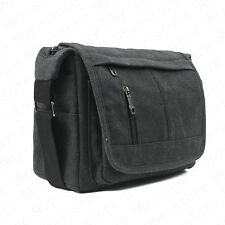 Canvas Camera Case Shoulder Bag for Canon Nikon Sony SLR DSLR+Cleaning cloth