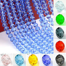 Colourful Czech Glass Crystal Rondelle Loose Spacer Bead DIY Findings 4/6/8/10mm