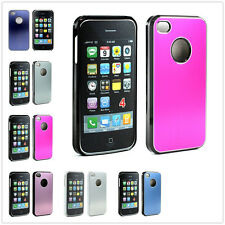 Ultra Thin Slim Chrome Aluminum Snap On Bumper Hard Case Cover for iPhone 4 4S G