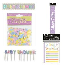 Unisex Baby Shower Reveal Party Mum To Be Set Banner Candles Games Sash