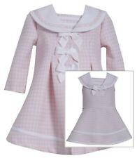 Bonnie Jean Girls Baby Easter Spring Pale Pink Nautical Dress Coat 2 Pc Set New