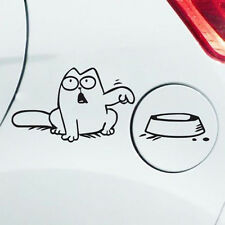 """Funny Cute Vinyl Decal Simon's Cat """"Feed Me!"""" Decal Sticker Car Fuel Tank Decal"""