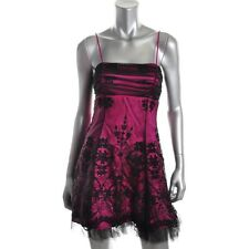 Blondie Nites Purple Spaghetti Strapes Party Cocktail Dress Juniors - New