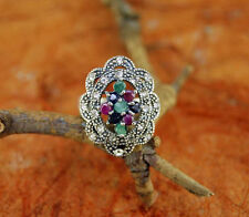 Beautiful Design Ring w/ Colored Stone- 925 Sterling Silver-Fashion Ring.