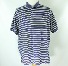 Mens Polo Golf Ralph Lauren Short Sleeve Polo Shirt Size XL Blue Striped Pony
