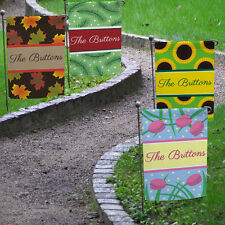 "Set of 4 ""All Seasons"" Personalized Garden Flag Set Summer, Spring, Fall, Winter"