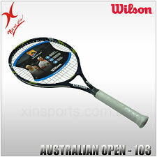 "2 or 4 WILSON AUSTRALIA OPEN TENNIS RACQUET 4 3/8 LIGHTWEIGHT - 103"" ADULT SIZE"