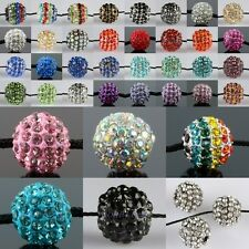 Wholesale Crystal Rhinestone 10mm Round Ball Loose Spacer Beads Jewelry Findings