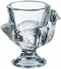NEW - 2 x Glass Chicken Egg Cups - Brand New - Made in France by Luminarc