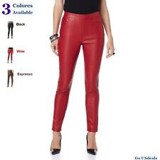 DG2 Diane Gilman Chic Luxe Faux Leather Stretch Jegging New with tags