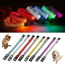 Various Leopard LED Collar Pet Dog Puppy Cat Light Night Flash Tag Safety CHOOSE