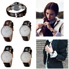Mens Wrist Watches Analog Quartz Steel Dial Fashion Leather Band New Hot sale