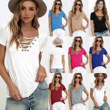 Hot Fashion Women's Loose Pullover T Shirt Short Sleeve Cotton Tops Shirt Blouse