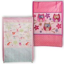 Chad Valley Creature Friends Storage Canvas Roll Up Wardrobe Bedroom Tidy Chest