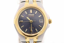 Ladies Citizen EW0044-51L Eco-Drive Two-Tone Stainless Steel Black Dial Watch