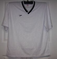 WHITE & Navy Youth Soccer Jerseys Stampa jersey FieldSheer - Upper V