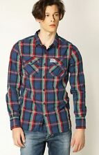 Superdry Mens Washbasket Check LongSleeve Shirt Iron Check Mix (#6823)