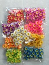50 mini Frangipani Latex Foam Flowers Wedding Decorations Various colours 2cm